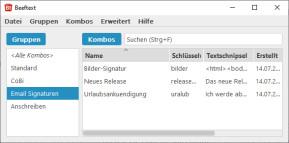 Beeftext: Textbausteine erstellen und einfügen