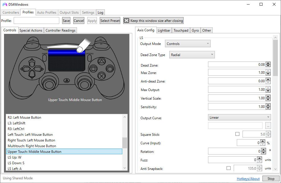 Screenshot 1 - DS4Windows