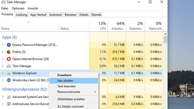 Windows 8/10: Explorer neu starten funktioniert nicht – Befehl führt in die Irre©COMPUTER BILD
