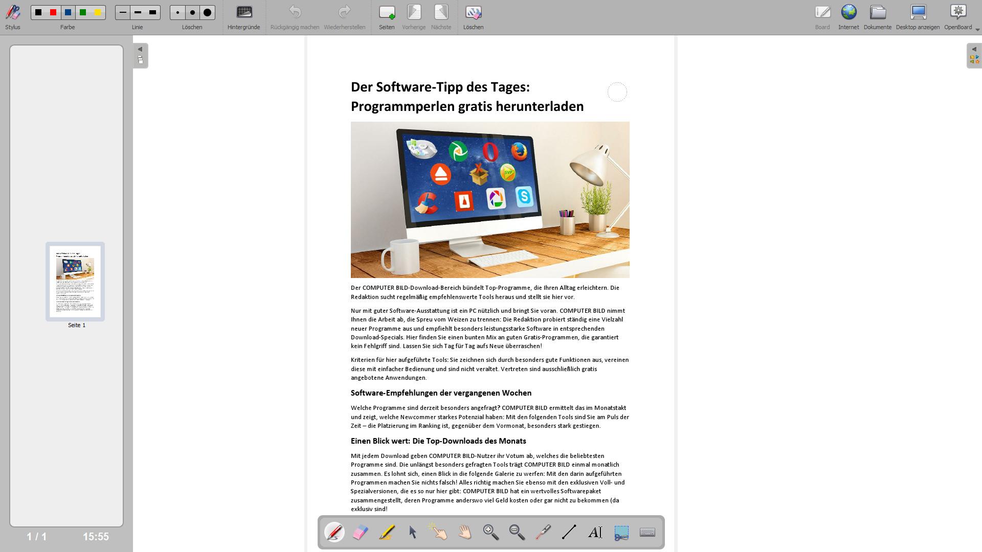 Screenshot 1 - OpenBoard