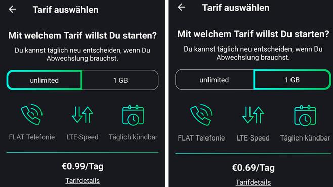 Freenet Funk im Check: Unbegrenztes LTE für 99 Cent – Tarif-Revolution? Nutzersache: 1 Gigabyte für 0,69 Euro am Tag – oder unbegrenzt Surfen für 0,99 Euro.©COMPUTER BILD, Freenet