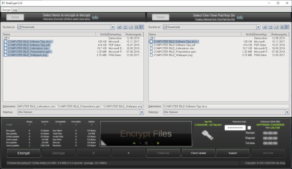 Screenshot 1 - FinalCrypt