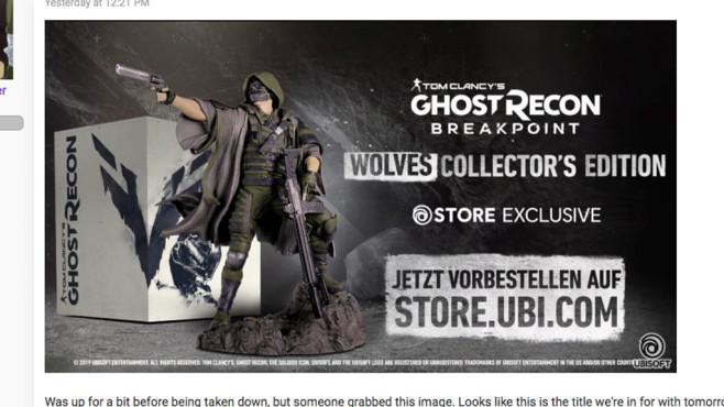 Ghost Recon – Breakpoint©Ubisoft / resetera.com