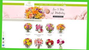 Exklusiver Online-Gutschein für Blumensträuße zum Muttertag©Screenshot www.valentins.de