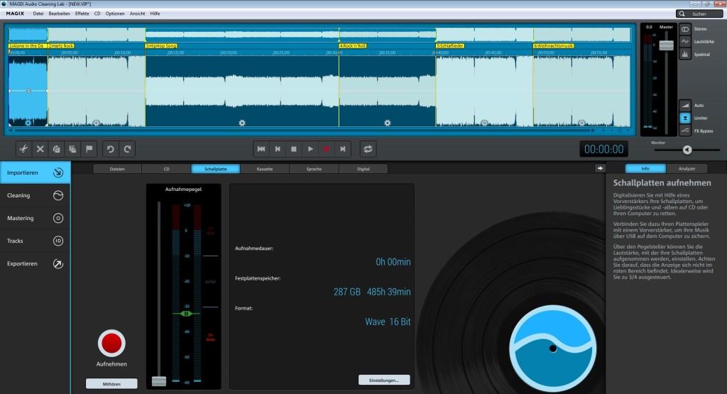 Screenshot 1 - Magix Audio Cleaning Lab