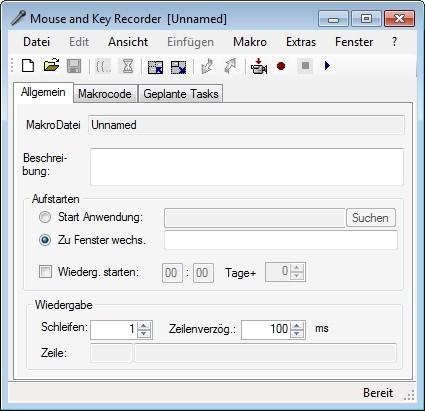 Screenshot 1 - Maus und Tastatur Recorder