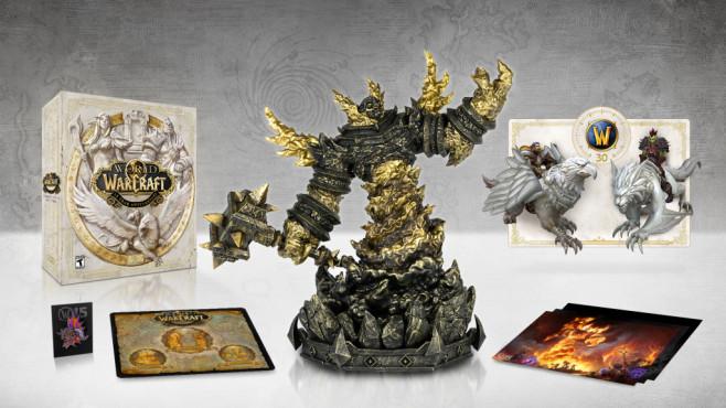 """World of Warcraft: Collector's Edition kommt! In der """"Collector's Edition"""" von """"WoW"""" ist einiges enthalten. Das große Highlight ist jedoch die Ragnaros-Statue.©Blizzard"""