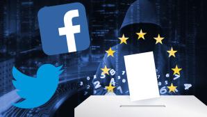 Europawahl©Leo Lintang - Fotolia.com, iStock.com/traffic_analyzer, Facebook, Twitter