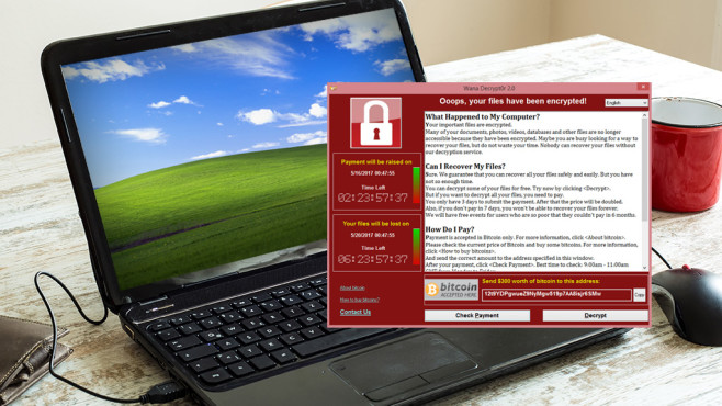 WannaCry-Meldung: Oops, your files have been encrypted©Microsoft, Spectral-Design – Fotolia.com