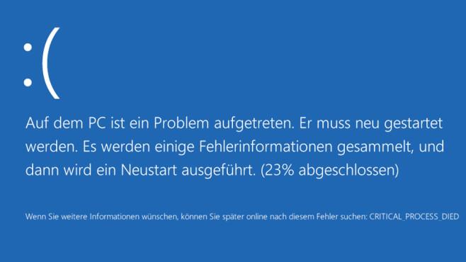 Gefährliche CMD-Befehle: Windows-Kniffe zum Fürchten Seit Windows 8 sind Bluescreens grafisch (wie auch der Bootmanager bei mehreren nebeneinander installierten OS, also in einer Dual-Boot-Konfiguration).©COMPUTER BILD