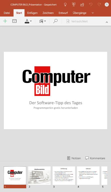 Screenshot 1 - Microsoft PowerPoint (APK)