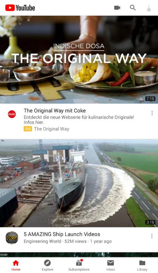 Screenshot 1 - YouTube (APK)