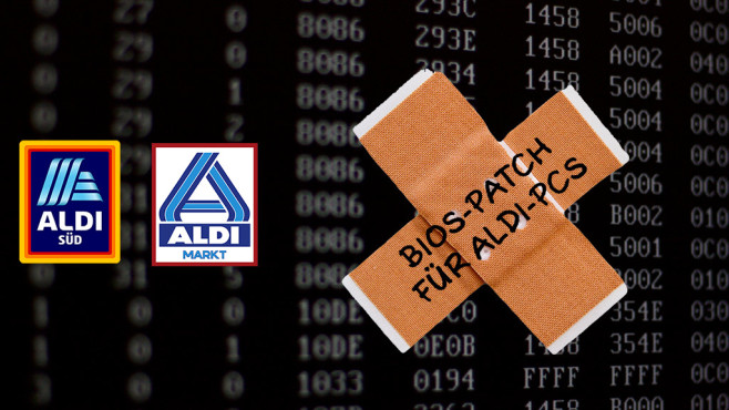 BIOS-Patch für Aldi-PCs © Aldi, Jürgen Fälchle-Fotolia.com, iStock.com/The unrecognized ordinary
