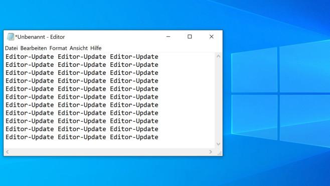 Windows 10 1903: Neue Editor-Tastenkombinationen©COMPUTER BILD