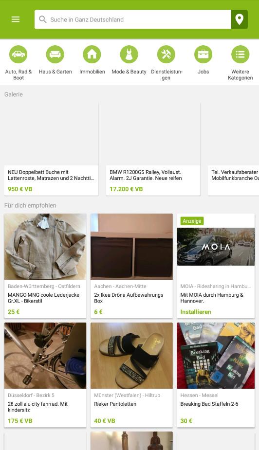Screenshot 1 - eBay Kleinanzeigen (Android-App)