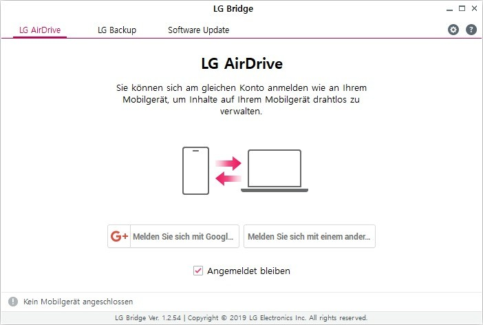 Screenshot 1 - LG Bridge