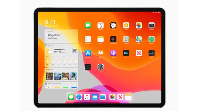 iPad mit iPadOS: Widgets auf Home-Bildschirm©Apple