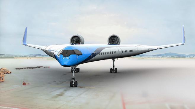 Flugzeug der Zukunft Flying V©KLM / TU Delft