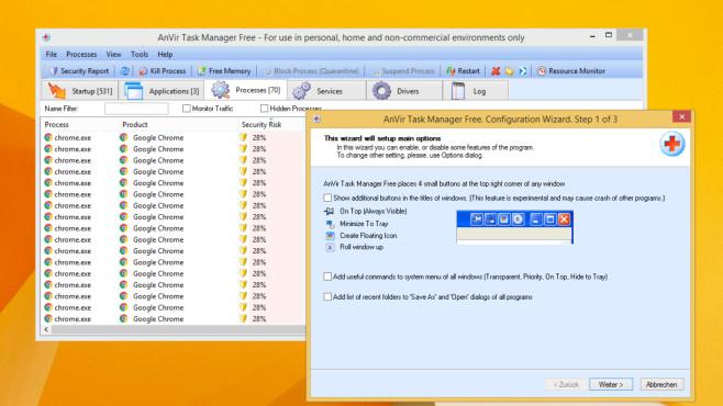AnVir Task Manager Free: Anleitung zur starken Task-Manager-Alternative Die Oberfläche von AnVir Task Manager Free ist umfangreich, dank Kategorien aber beherrschbar.©COMPUTE BILD