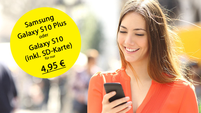 Sparhandy-Deals mit Samsung Galaxy S10 Plus©Antonioguillem – Fotolia.com