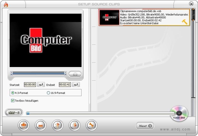 Screenshot 1 - SuperDVD Creator