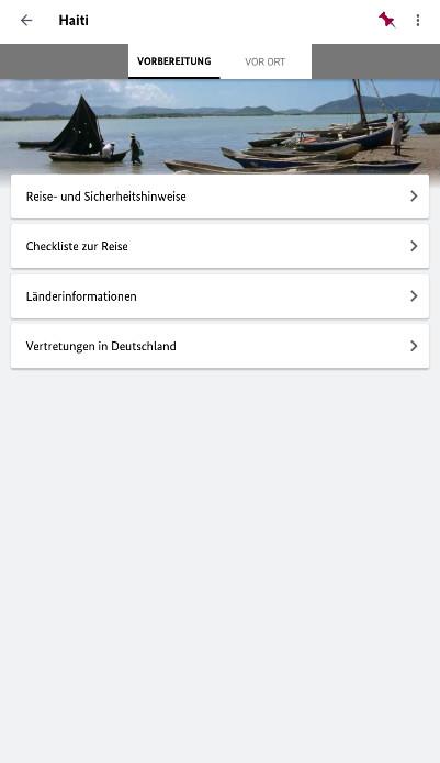 Screenshot 1 - Sicher Reisen (App für iPhone & iPad)