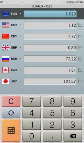 Währungsrechner plus (Android-App)