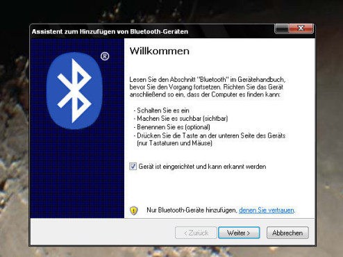 Handy-Fotos per Bluetooth an den PC übertragen
