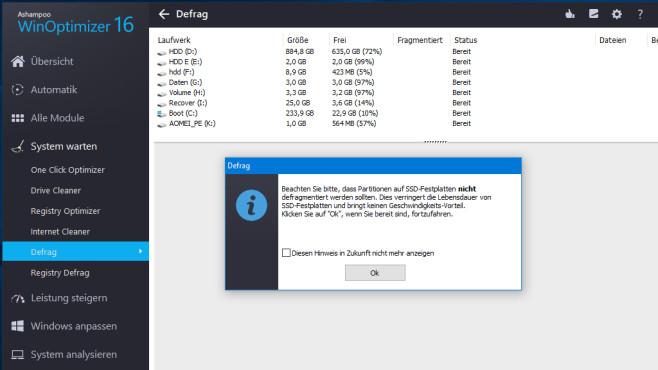 Registry defragmentieren bei SSD: Sinnvoll, schädlich?©COMPUTER BILD