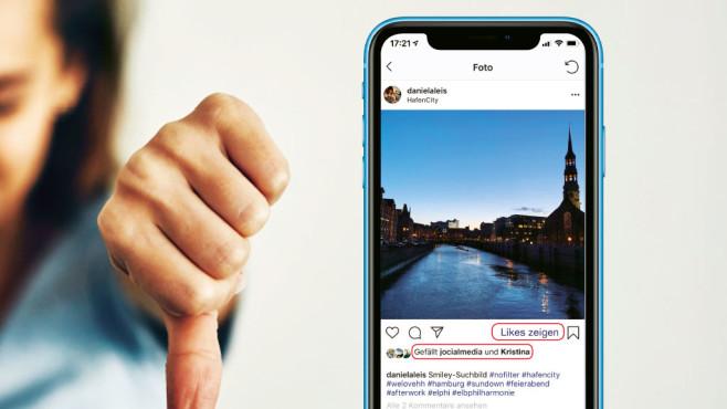 Instagram likes verbergen©istock; Montage: COMPUTER BILD