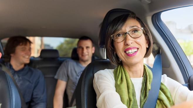 Fahrt mit Uber©Uber