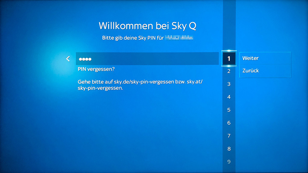 Sky Receiver Per App Steuern