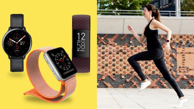 Wearables fürs Laufen©COMPUTER BILD, Apple, Fitbit, Samsung