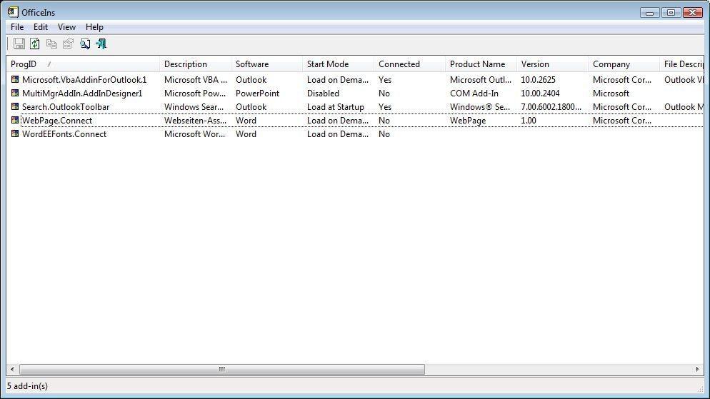 Screenshot 1 - OfficeIns
