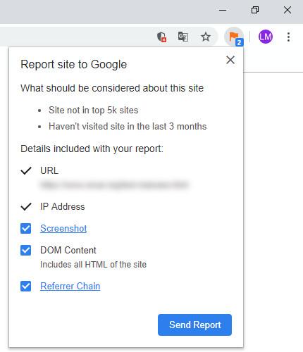 Screenshot 1 - Suspicious Site Reporter für Chrome