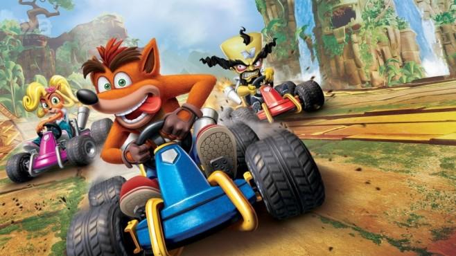 """Crash Team Racing – Nitro Fueled: Der Beuteldachs gibt Kette! """"Crash Team Racing – Nitro Fueled"""" ist das aufpolierte Best of aus 20 Jahren Crash-Funracer-Geschichte.©Activision"""