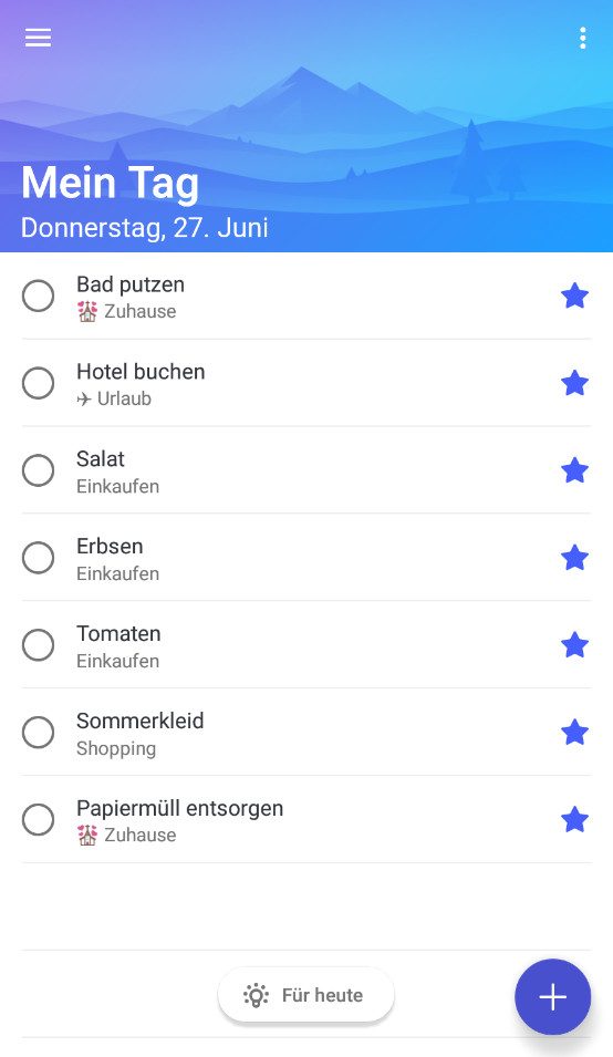Screenshot 1 - Microsoft To-Do (Android-App)