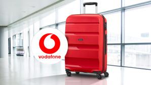 LTE-Flat und Reisetrolley©iStock.com/baona, Vodafone, American Tourister