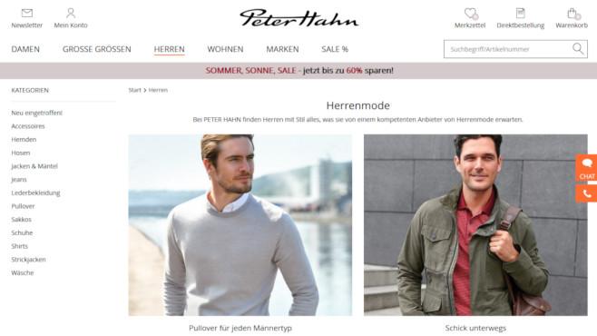 best sale retail prices where can i buy Peter Hahn: 10 Euro Rabatt beim Mode-Versandhändler ...