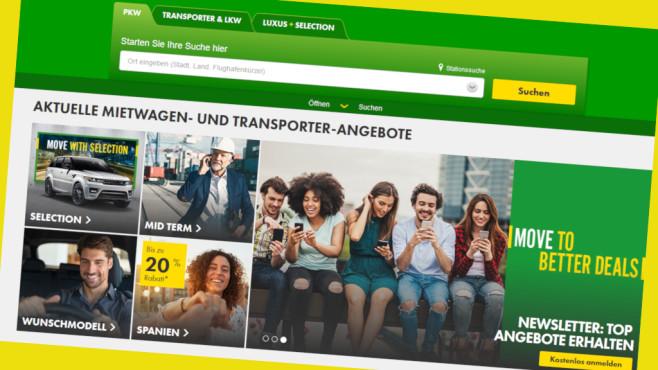 Europcar-Gutschein: 12 Prozent Mietwagenrabatt erhalten©Screenshot www.europcar.de