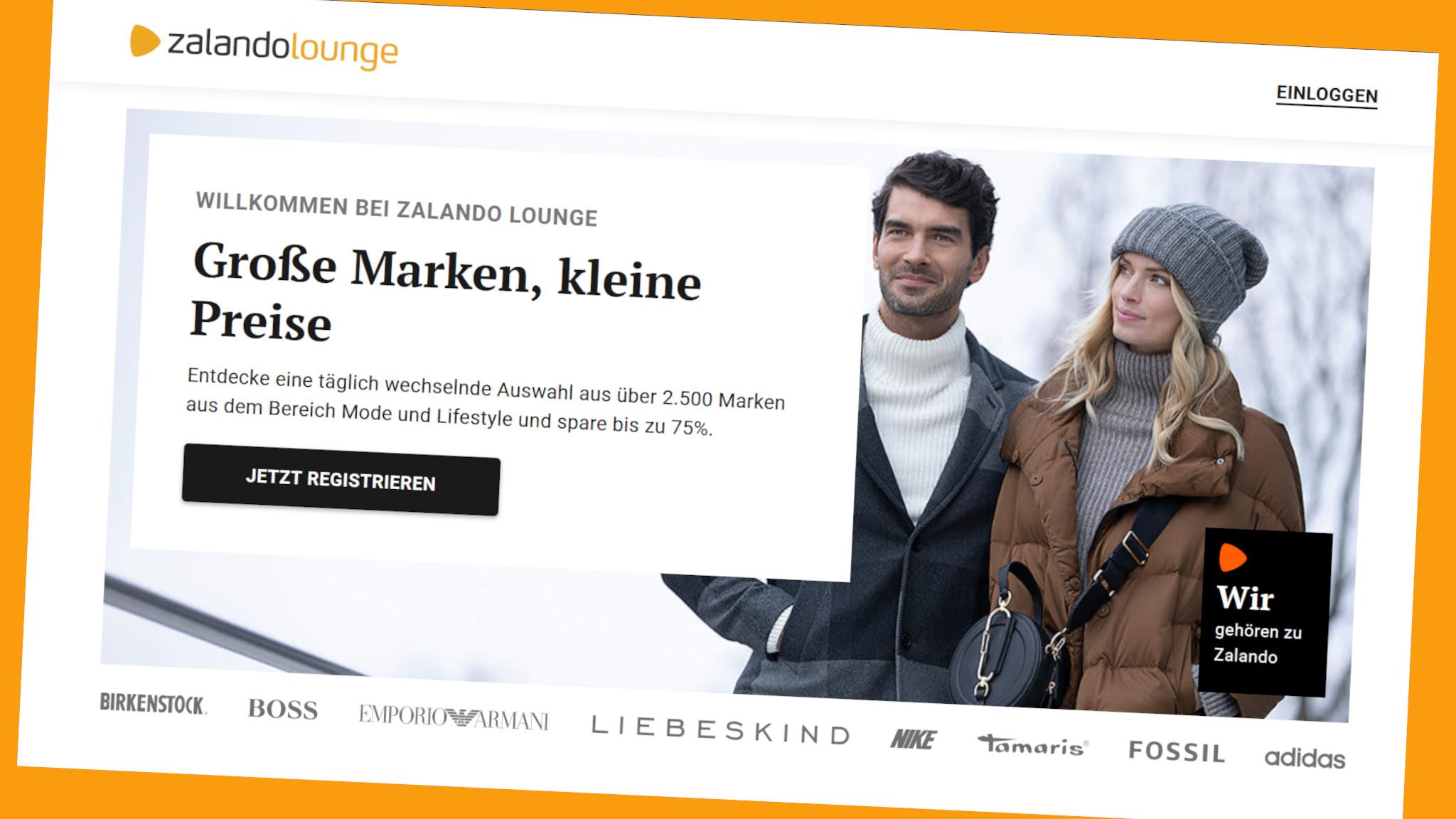 Zalando Lounge: Mitglieder sparen täglich©Screenshot www.zalando-lounge.de