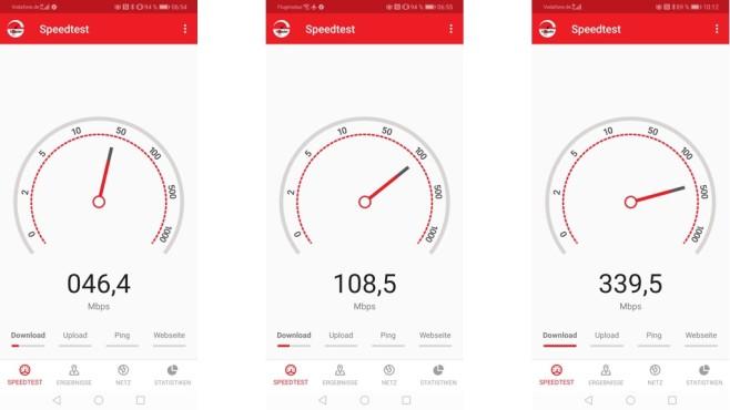 4G, 5G und DSL 100 im Vergleich©COMPUTER BILD