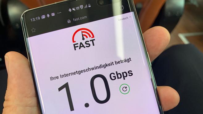 5G im Alltags-Test: Tempo, Speedtest, Reichweite, Empfang Ein Gigabit pro Sekunde: Das beste Ergebnis der 5G-Tempotests in Korea.©COMPUTER BILD
