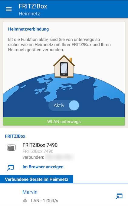Screenshot 1 - MyFritzApp (Android-App)