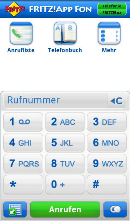 Screenshot 1 - FritzApp Fon (Android-App)