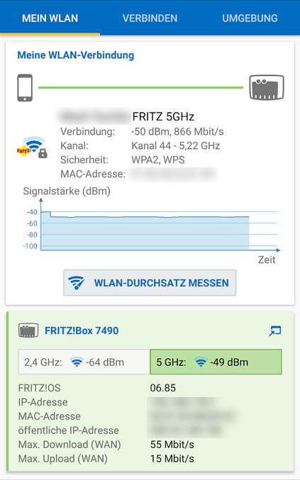 Screenshot 1 - FritzApp WLAN (Android-App)