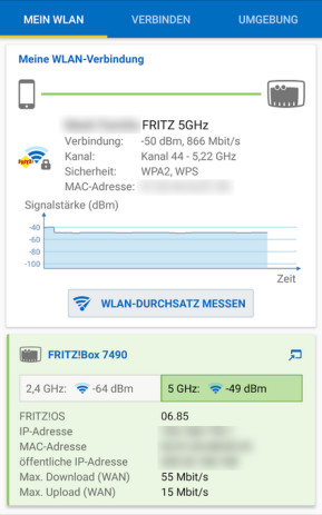 FritzApp WLAN (Android-App)