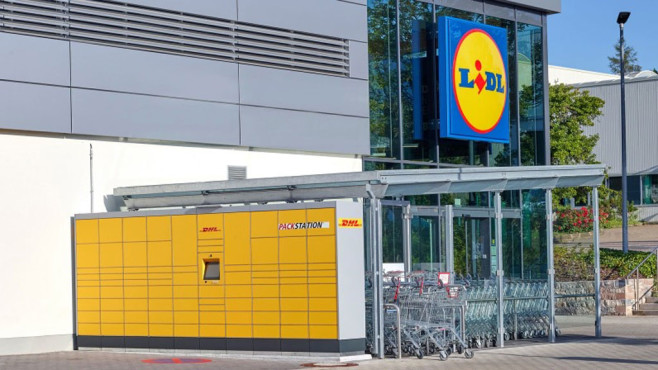 Lidl: Packstation © DHL