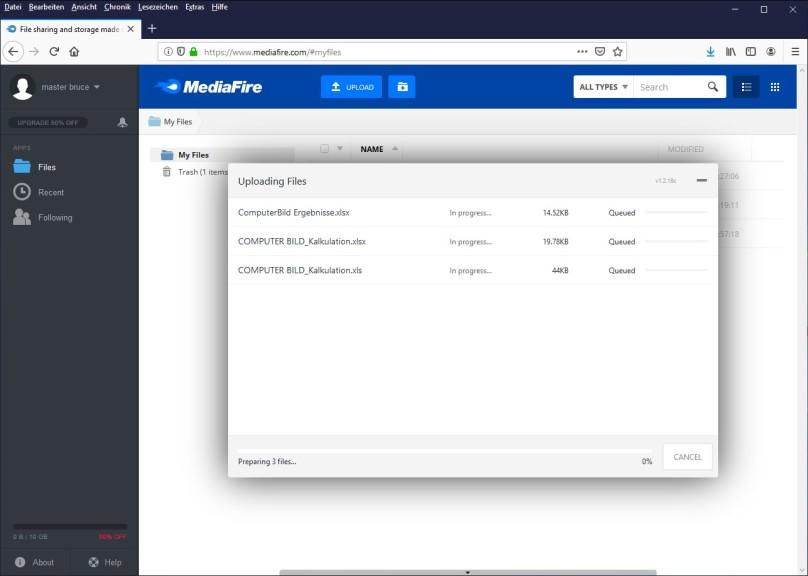 Screenshot 1 - MediaFire