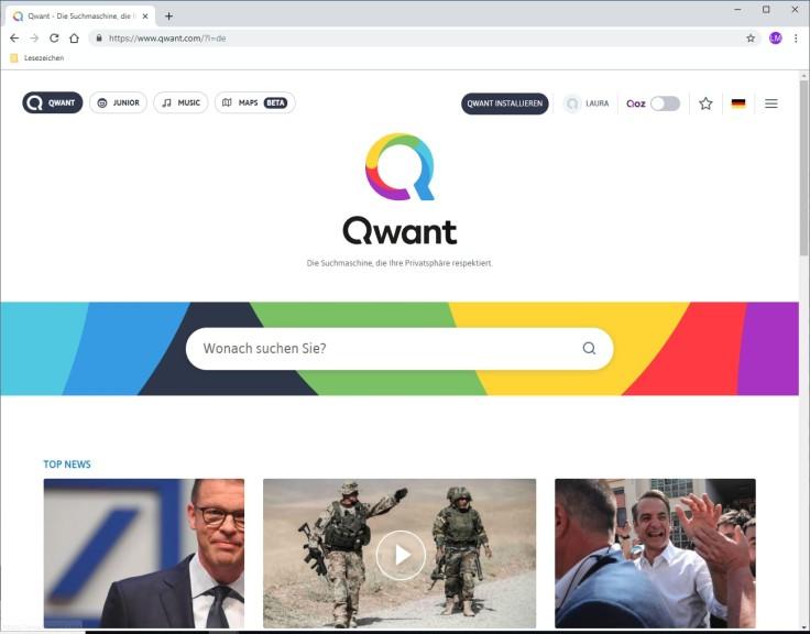 Screenshot 1 - Qwant Suchmaschine